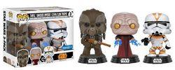 Funko POP! Star Wars - Tarfful, Unhooded Emperor, Utapau Clone Trooper #11825