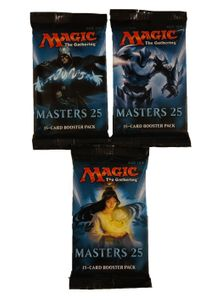 3 Masters 25 Booster Packs englisch - Magic the Gathering