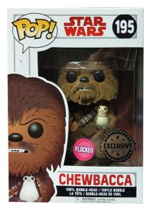 Funko POP! Star Wars Episode 8 - Chewbacca with Porg Flocked #21392