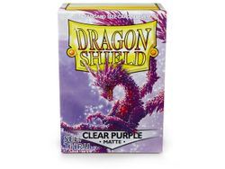 100 Dragon Shield Matte Card Sleeves - Clear Purple (See Thru)