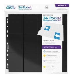 Ultimate Guard 24-Pocket Pages Side-Loading Black (10 Stück) – Bild 1
