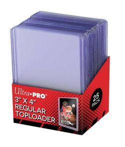 "Ultra Pro - Toploader - 3"" x 4"" Clear Regular (25 pieces) (63,5mm - 88,9mm)"