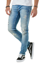 Loom Med Blue 6968 Straight Fit Jeans 2