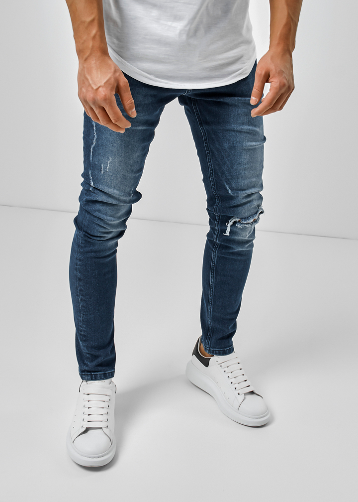 Herren Jeans, Slim Fit, hellblau, W33L32