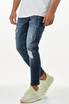 EFJ3615 7/8 Skinny Destroyed Jeans 1