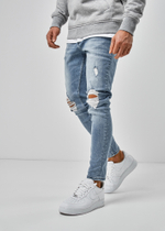 EFJ5090 Destroyed Jeans 1