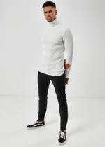 Rollkragen Pullover - Weiß 3