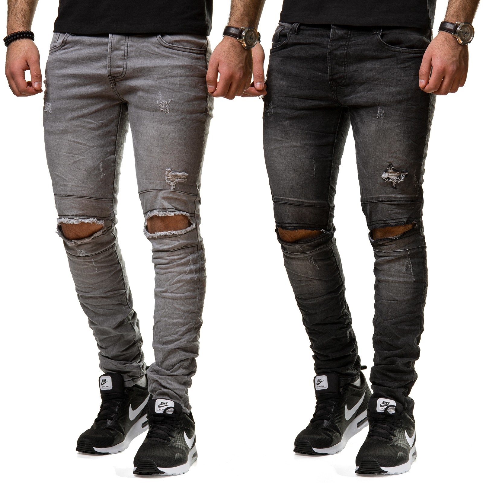 zerrissene jeans damen zerrissene jeans mit engem bein. Black Bedroom Furniture Sets. Home Design Ideas