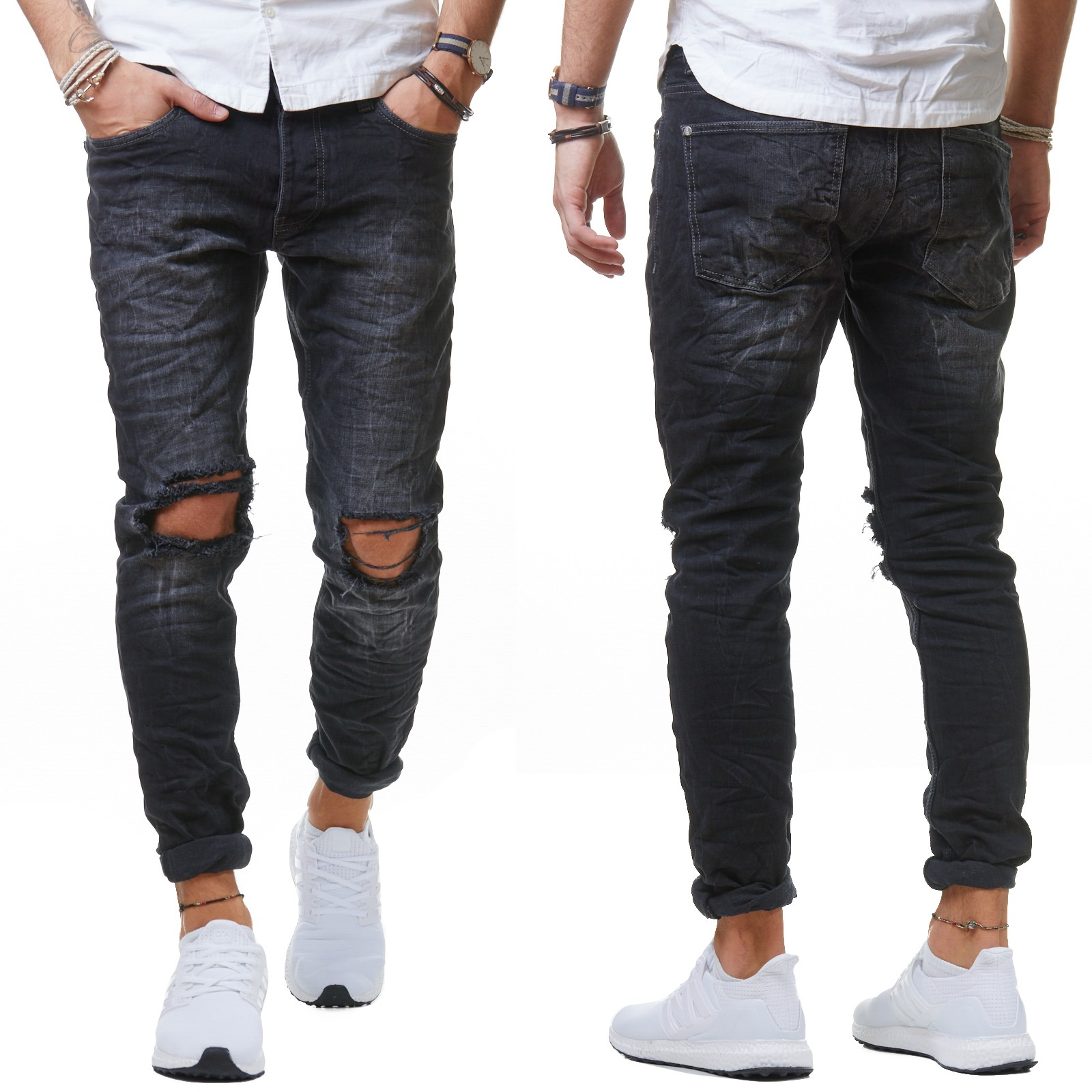 redbridge 4098 herren jeans hose denim slim fit zerrissen. Black Bedroom Furniture Sets. Home Design Ideas