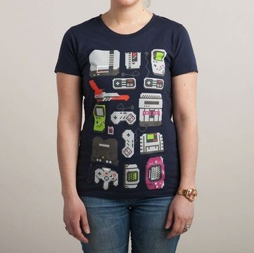 A Pixel of My Childhood - T-Shirt - Damen - Größe L - (NEU)