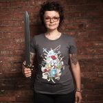 It's Dangerous to Go Alone - T-Shirt - Damen - Größe XL - (NEU) 001
