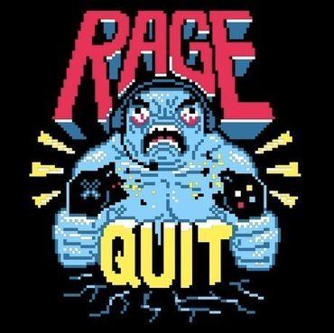 Rage Quit - T-Shirt - Damen - Größe XL - (NEU) – Bild 2