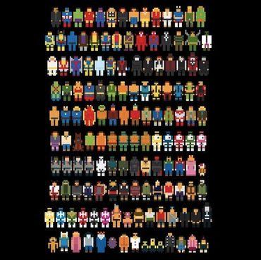 Mini Pixels - T-Shirt - Damen - Größe L - (NEU) – Bild 2