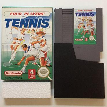 Four Players Tennis (NES) (Gebraucht) (OVP ohne Anleitung) – Bild 2