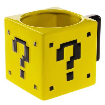 "Power Up Tasse ""Fragezeichenblock"" (ThinkGeek) (Neu) – Bild 1"