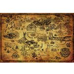 The Legend of Zelda Hyrule Map Poster (60 x 90cm) (Pyramid) (Neu) 001