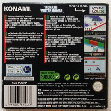 Konami Winter Games (Game Boy Color) (Gebraucht) (OVP) – Bild 3