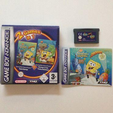 2 Games in 1 - SpongeBob Schwammkopf - SuperSponge / Revenge of the Flying Dutchman (Game Boy Advance) (Gebraucht) (OVP) – Bild 2