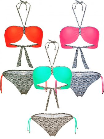 Push Up Neckholder Bikini – Bild 1