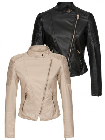 Laeticia Dreams Lederimitat-Jacke Biker Look – Bild 1