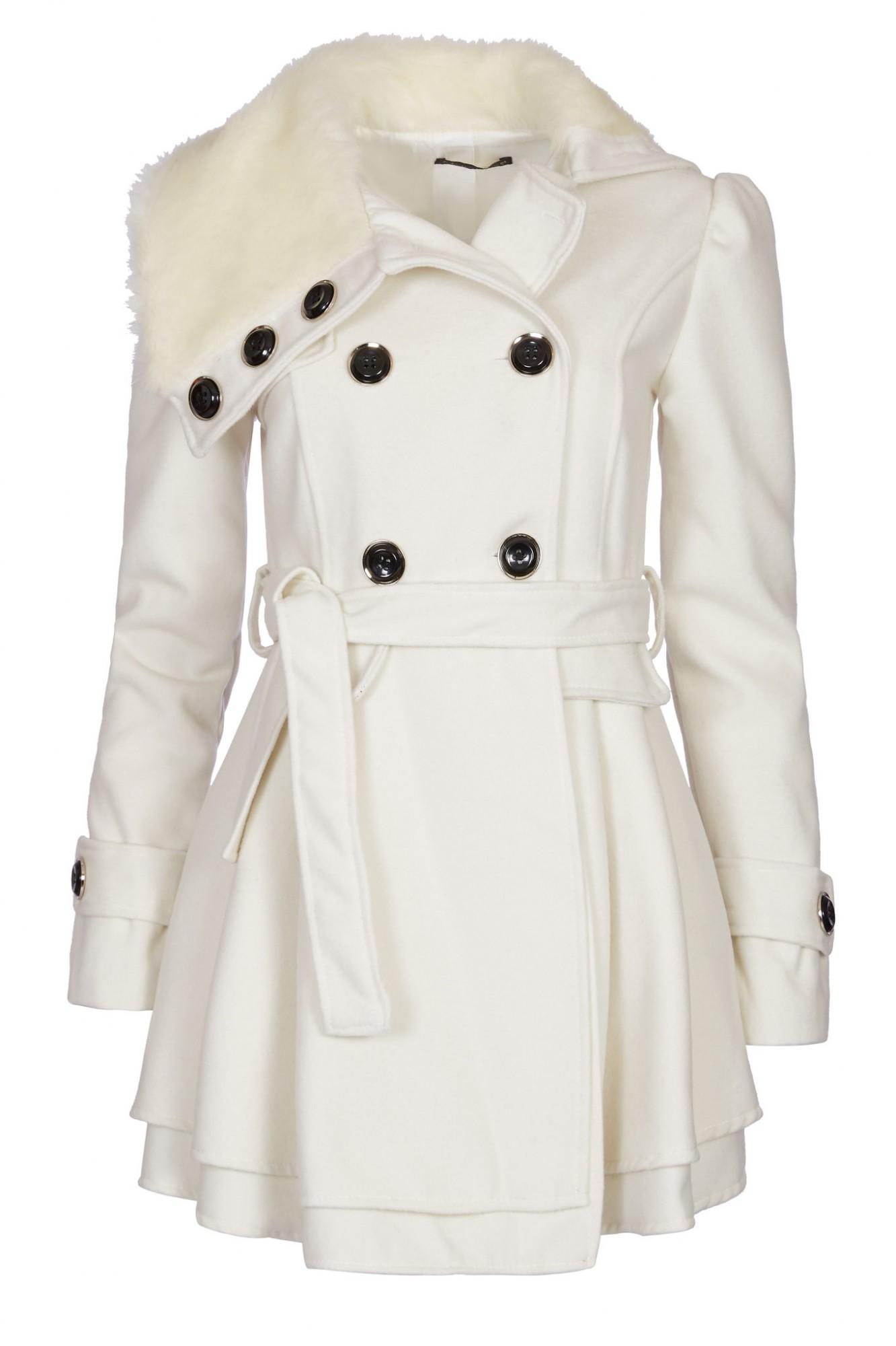 huge selection of 2a8b9 22b11 Details zu Laeticia Dreams Damen Mantel Jacke Winterjacke Mantel mit  Fellkragen S M L XL