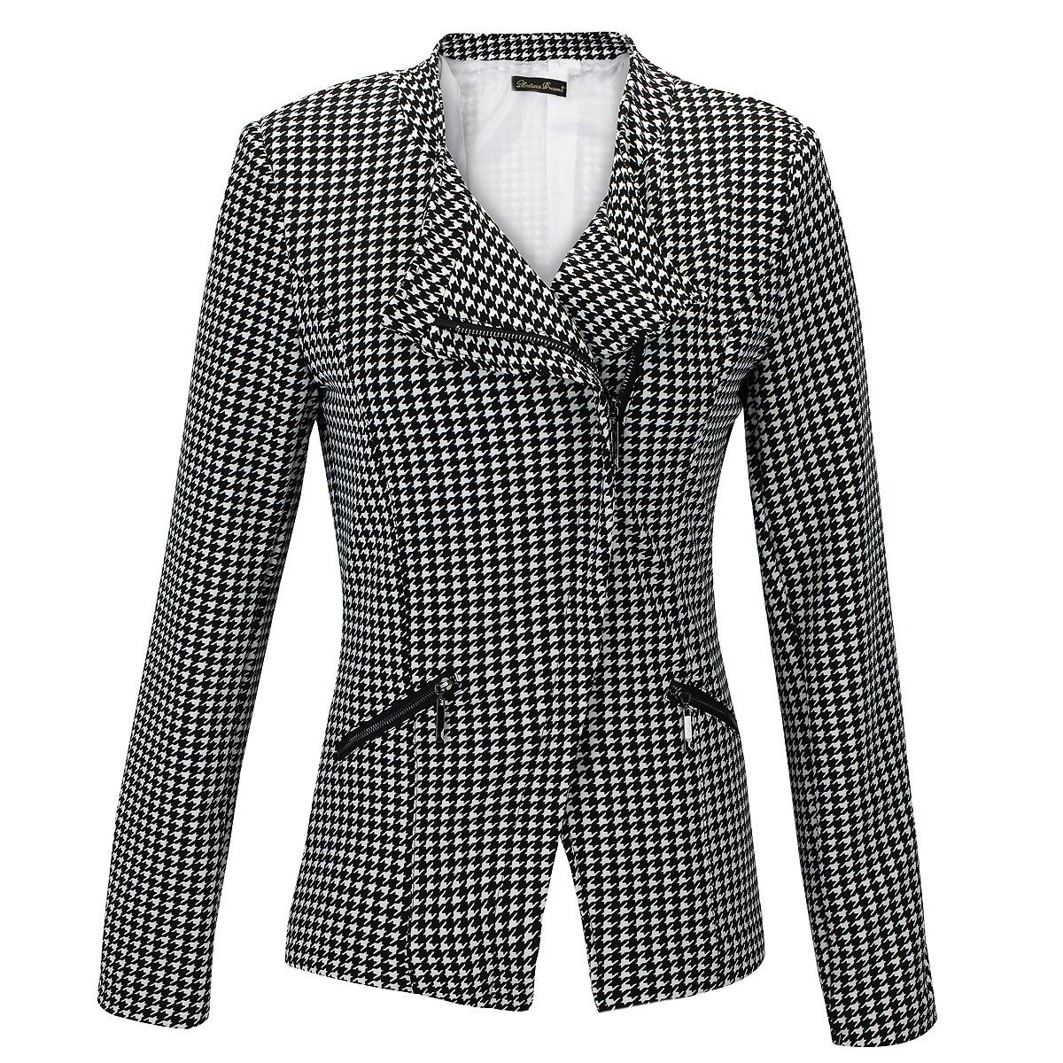 laeticia dreams damen blazer elegant business casual jacke hahnentritt s m l xl ebay. Black Bedroom Furniture Sets. Home Design Ideas