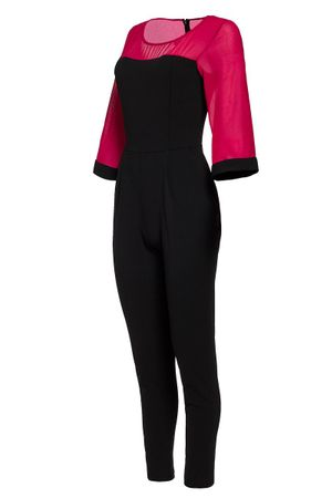 Laeticia Dreams Damen Overall Einteiler Jumpsuit Langarm Kimonoärmel S M L XL – Bild 20