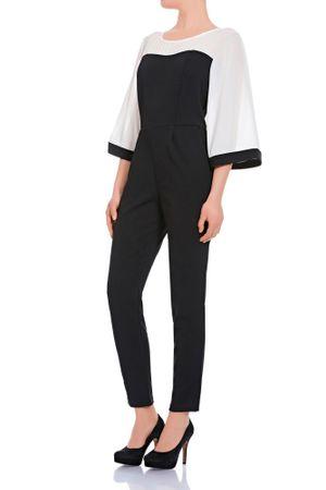 Laeticia Dreams Damen Overall Einteiler Jumpsuit Langarm Kimonoärmel S M L XL – Bild 9