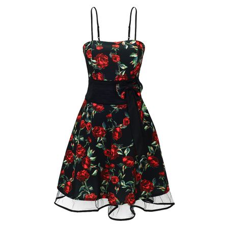 Laeticia Dreams Damen Kleid Rockabilly Blumenmuster S M L XL – Bild 7