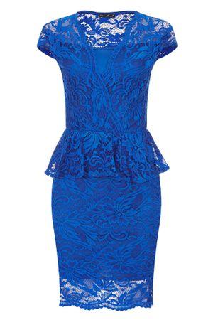 Laeticia Dreams Damen Kleid aus Spitze Kurzarm Knielang Schößchen S M L XL – Bild 19