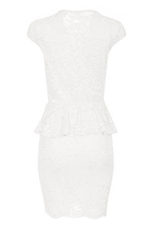 Laeticia Dreams Damen Kleid aus Spitze Kurzarm Knielang Schößchen S M L XL – Bild 17