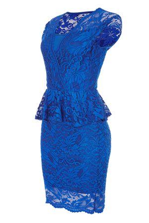 Laeticia Dreams Damen Kleid aus Spitze Kurzarm Knielang Schößchen S M L XL – Bild 18