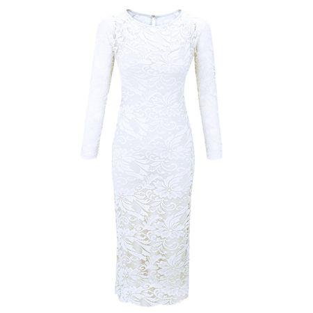 Laeticia Dreams Damen Kleid aus Spitze Langarm Wadenlang S M L XL XXL XXXL – Bild 19