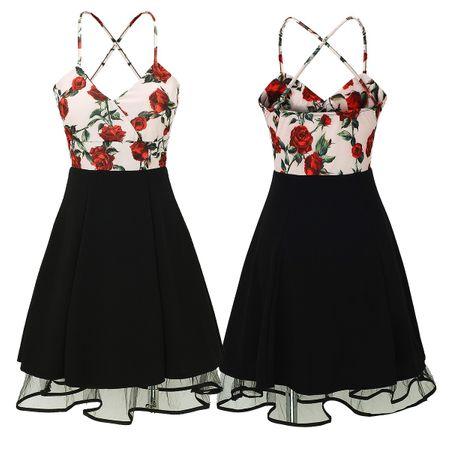 Laeticia Dreams Damen Petticoat Pin Up Rockabilly Kleid Blumen S M L XL – Bild 14