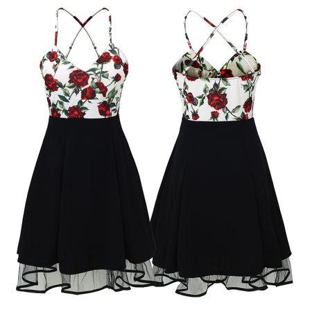 Laeticia Dreams Damen Petticoat Pin Up Rockabilly Kleid Blumen S M L XL – Bild 5