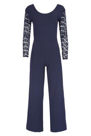 Eleganter Laeticia Dreams Damen Jumpsuit Einteiler mit Spitze Bootcut S M L – Bild 14