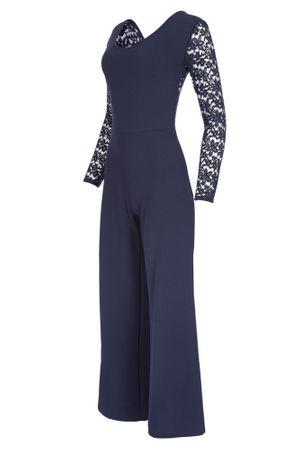 Eleganter Laeticia Dreams Damen Jumpsuit Einteiler mit Spitze Bootcut S M L – Bild 13