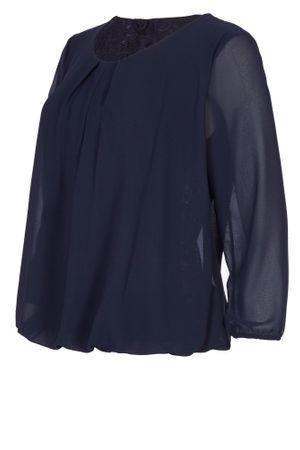 Laeticia Dreams Damen Bluse Chiffon Langarm Rücken aus Spitze Layer Optik S M L – Bild 10