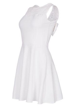 Laeticia Dreams Damen Kleid Mini mit Spitze und Schleife S M L – Bild 13