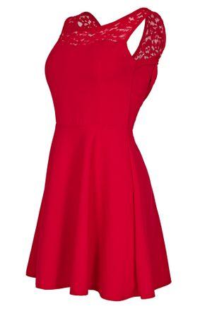 Laeticia Dreams Damen Kleid Mini mit Spitze und Schleife S M L – Bild 7