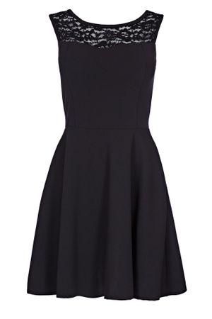 Laeticia Dreams Damen Kleid Mini mit Spitze und Schleife S M L – Bild 2