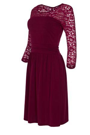 Laeticia Dreams Damen Kleid mit Spitze Knielang Langarm S M L XL – Bild 4