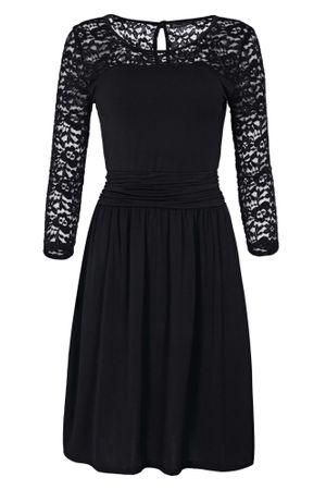 Laeticia Dreams Damen Kleid mit Spitze Knielang Langarm S M L XL – Bild 2