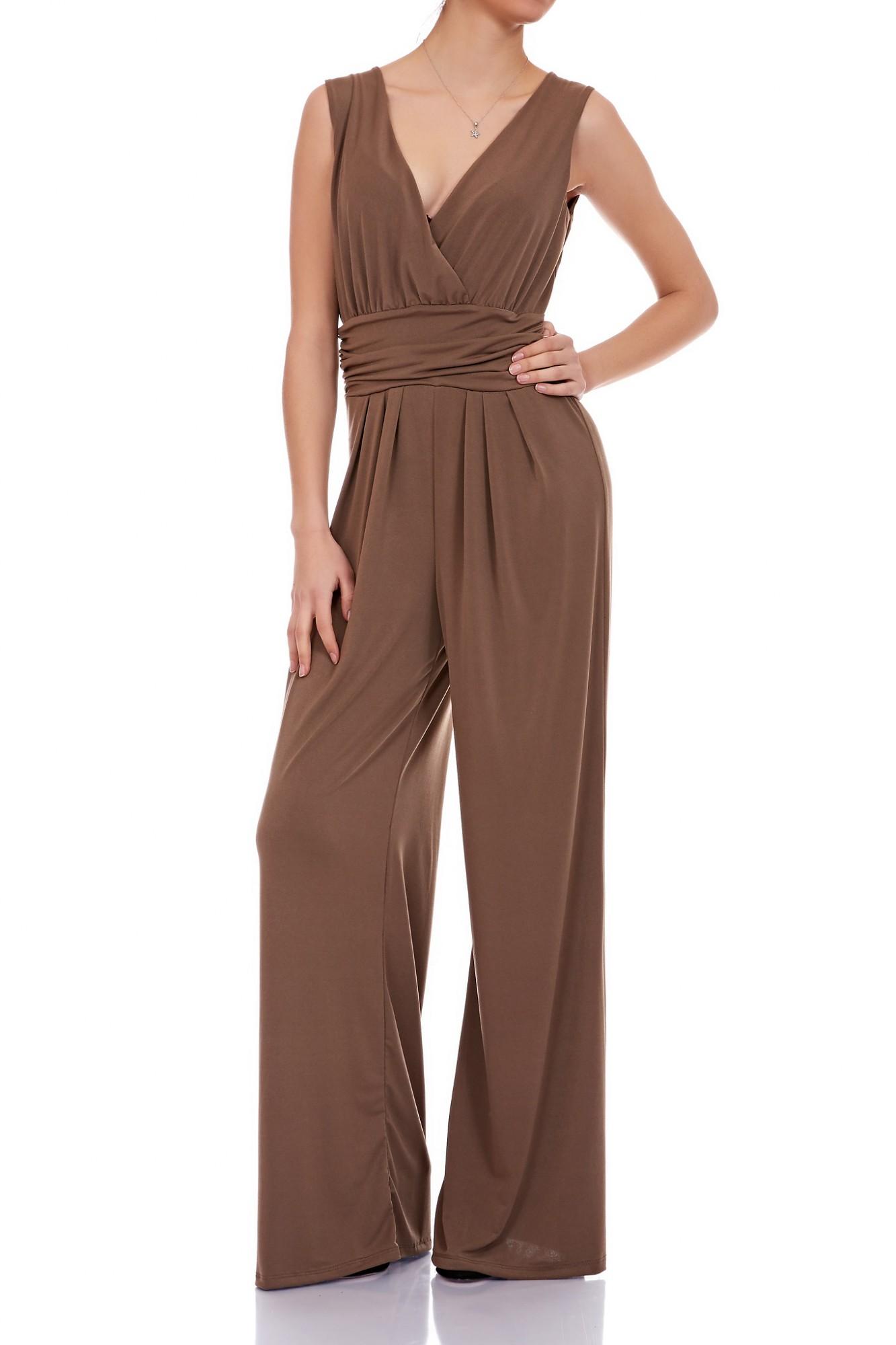 5ef67a587b0b88 Eleganter Laeticia Dreams Damen Overall Jumpsuit V Ausschnitt S M L XL