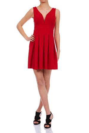Laeticia Dreams Damen Kleid Mini V-Ausschnitt S M L – Bild 2