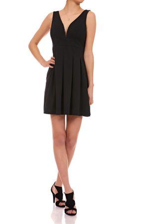 Laeticia Dreams Damen Kleid Mini V-Ausschnitt S M L – Bild 5