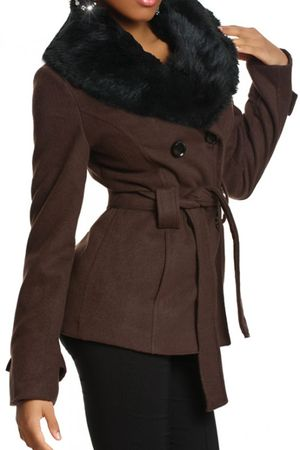 Laeticia Dreams Winterjacke mit Fellkragen – Bild 13
