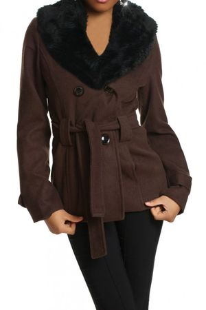 Laeticia Dreams Winterjacke mit Fellkragen – Bild 12