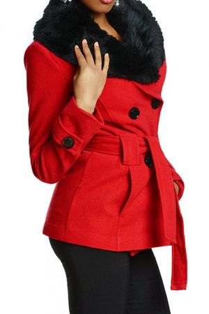 Laeticia Dreams Winterjacke mit Fellkragen – Bild 9
