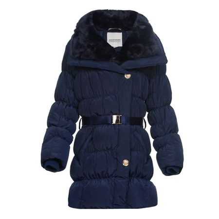 Newness Winter-Steppjacke mit Fellkragen – Bild 1